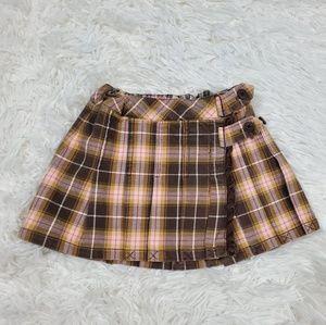 Tommy Hilfiger plaid brown toddler skirt 2 t